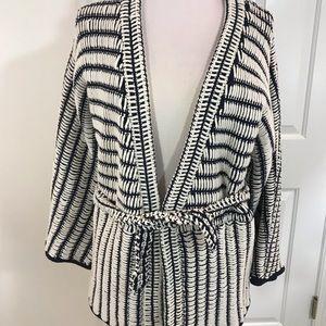 H&M Studio Blue & White Cardigan Sweater